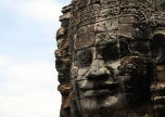 One of the 216 faces of Bayon, part of the Angkor Thom temple complex