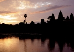 The iconic Angkor Wat at sunrise